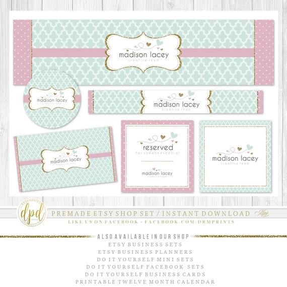 Premade DIY Etsy Shop Set | Blank Etsy Set | Premade Shop Set | Etsy Shop Graphics | Etsy Business Set | INSTANT DOWNLOAD-AG878
