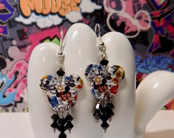 Minnie Mouse Nerds Double Sided Dangle Earrings