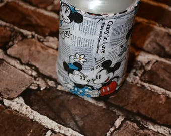 Mickey and Minnie Mouse Bottle/Can Cozy