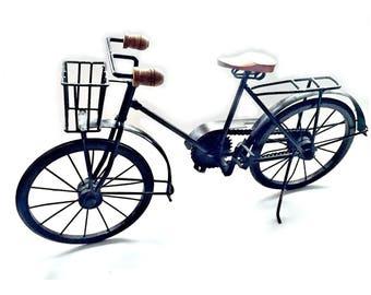 Vintage Bike Decor, Handmade Vintage Bicycle Home Decor, Miniature Metal and Wood Bicycle, Bicycle Sculpture Art, Vintage Toy Bicycle Bike