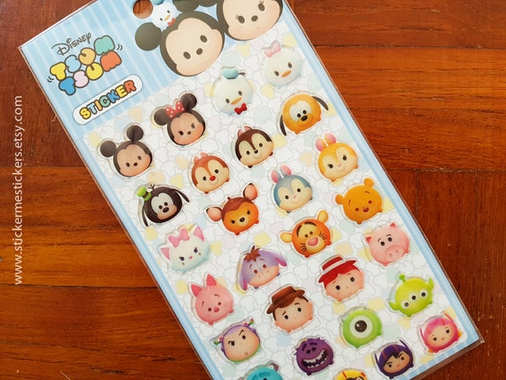 Eeyore Disney Tsum Tsum Tigger Piglet Minnie Mouse: Tsum Tsum Stickers Winnie The Pooh Mickey Mouse Piglet