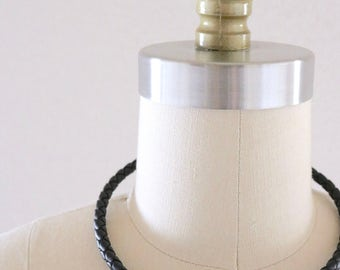 leather rope choker