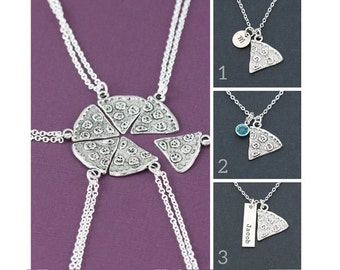 SALE • Friendship Necklace • Best Friends Necklace • Best Friend Gift • Pizza Necklaces • Sorority Sisters • BFF • Pizza Slice