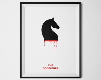 The Godfather Poster, The Godfather Print, The Godfather Wall Art, The Godfather Decor, The Godfather Horse Poster, Minimalist Film Print