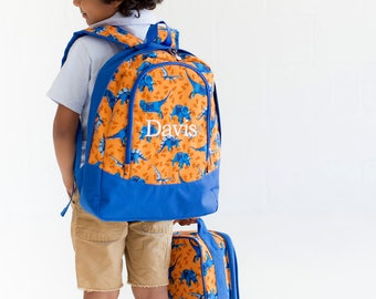 Dinosaur backpack and lunchbox set Zoey purple floral backpack and lunchbox set