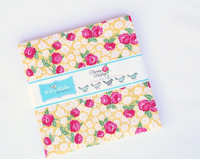 "10"" Stacker - 42 Pieces - Dainty Darling Fabric by Lindsay Wilkes for Riley Blake Designs"