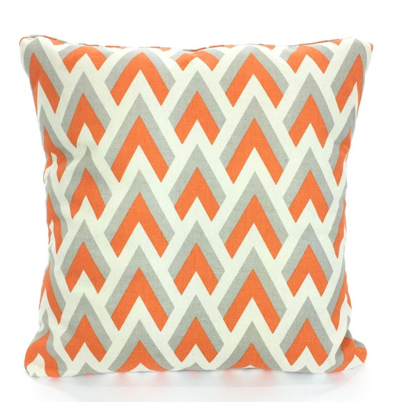 orange gray pillow cover decorative throw pillow cushion. Black Bedroom Furniture Sets. Home Design Ideas