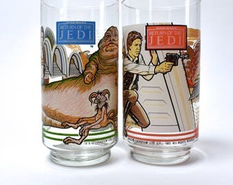 In a Galaxy Far, Far Away... Return of the Jedi Drinking Glass Set of 2