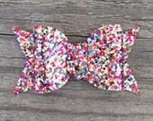 Rainbow Glitter Hair Bow, Glitter Hair Bows, Sparkly Hair Clips, Toddler Hair Clip, Sparkly Hair Bows, Colorful Hair Clip, Rainbow Hair Clip