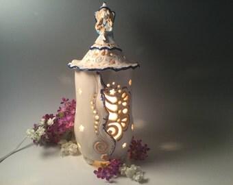 Fairy night light/fairy house/fairy lantern/fairy lamp/lantern/lamp/fairy/fairies/mother's Day gift/nursery lamp/baby shower gift