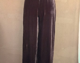 Chocolate Brown Velvet Pants