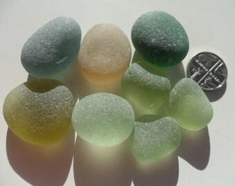 Seaham Soft Shades Display Beautiful English Sea Glass - Free Shipping (5345)