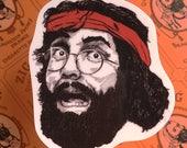 "Chong's ""Up In Smoke"" Vinyl Laptop Sticker   Car Decal   Phone Sticker"