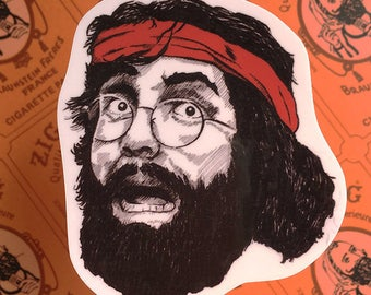 "Chong's ""Up In Smoke"" Vinyl Laptop Sticker 