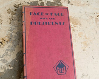 1929 PRESIDENTS Vintage Notebook Journal