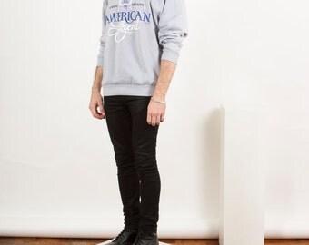 Light Grey Cozy Sweatshirt  / Oversized American Legend Sweatshirt/ Oversized Crew Neck
