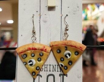 Mushroom Olive Pizza Earrings