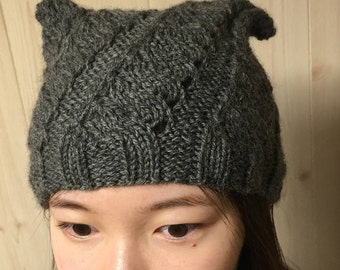 Knit Pattern for Pussy Hat -easy but super cute!