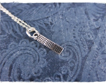 Tiny Silver Bandage Necklace - Sterling Silver Bandage Charm on a Delicate Sterling Silver Cable Chain or Charm Only