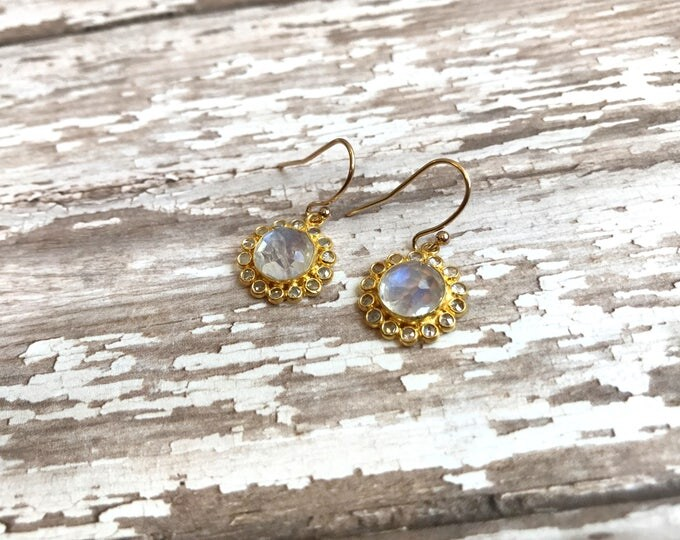 Moonstone Floral earrings