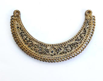 Brass Bib Necklace Connector, Indian Style