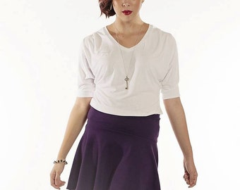 Heather High-Low Skirt