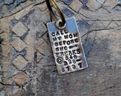 Call My Mom Before She Freaks™ Pet Tag. The Original Call  my PEOPLE Pet Tag™ and Vintage Inspired Pet Tags™ by Sycamore Hill. Dog ID Tags