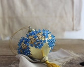 RESERVED Vintage Ornate Sequin and Bead Ornament