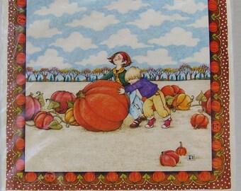 Mary Engelbreit -  Iron On Transfer - Pumpkin Patch - 1990 - Daisy Kingdom