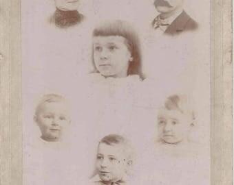 Antique photograph - Family portrait cabinet card