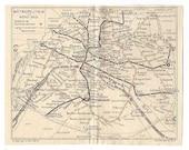1930s Metropolitan Plan de Paris - Old map of Subway in Paris - Original vintage map