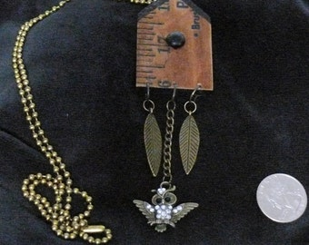 OOAK Birdhouse Necklace, Handmade, from Bluebird Creations, Item #2010