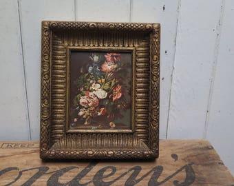Chunky Dark Gold Picture Frame  Ornate molded plastic frame