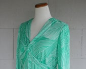 RESERVED ////////////////////////////Vintage Maxi Dress / 60s Parnes Feinstein Tropical Print Dress / Medium
