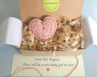 Baby Girl Gender Reveal, Pregnancy Announcement,  Grandparents, Daddy,  Heart, Puffy Pink Heart,  Baby Girl Announcement, Baby Shower Gift,