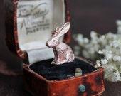 Rose gold rabbit necklace, rose gold hare necklace, rose gold bunny necklace, rose gold rabbit charm