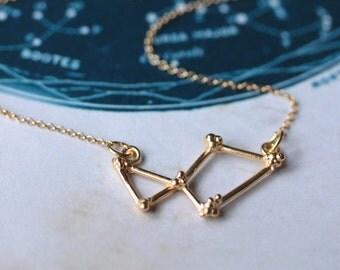 Lyra Constellation Necklace, Gold constellation necklace, star jewellery
