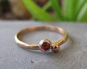 Pink Tourmaline Ring Pink Gemstone Ring Rose Gold Artisan Handmade Size 6 Rose Cut Unique Engagement Ring Promise Ring Minimalist Wedding