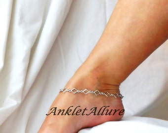 Simply Chain Anklet Elegant Ankle Bracelet Silver Ankle Bracelet Chain Body Jewelry Fetish Foot Jewelry