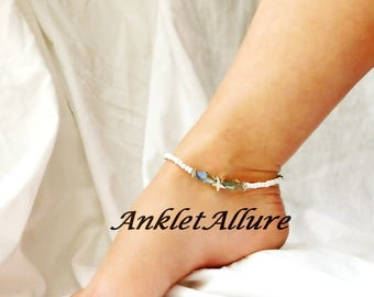 Gold Starfish Anklet Elegant Beach Ankle Bracelet Cruise Anklet Resort Body Jewelry