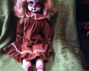 Vintage Porcelain Day of the Dead Doll