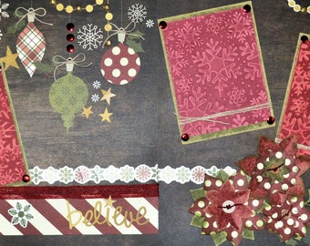 Do You Believe in Christmas Premade Embellished Two-Page 12 x 12 Scrapbook Layout by SSC Designs