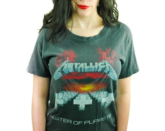Vintage Metallica Shirt Master of Puppets 1987 Metal Thrash Band Tee Concert shirt 80s Tee Metallica Tee Slayer Megadeth Iron Maiden 1980s