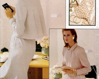 Vogue 7165 Sewing Pattern for Misses' Jacket and Skirt - Uncut - Size 12, 14, 16 - Bust 34, 36, 38