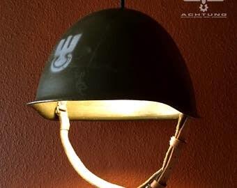 Military Helmet Pendant Lamps