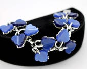 Coro Thermoset Bracelet in Blue Moonglow