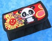 Women Wallet Credit Card Wallet Small Wallet Cute Panda Fabric Wallet Credit Card Holder Girls Wallet Vegan Wallet Cloth Wallet Mini Velcro