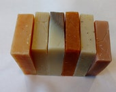 Your Choice Any Six Cold Process Soaps Scented with Essential Oils Combo Pack Soap Set
