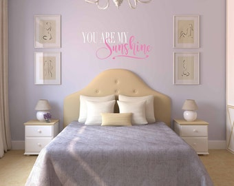 Sunshine Wall Decal Etsy - Wall decals you are my sunshine