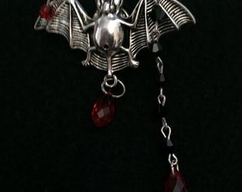 Vampire bat  brooch
